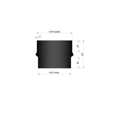 Rauchrohr Erweiterung Ø120-130mm