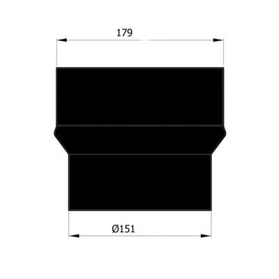 Rauchrohr Erweiterung Ø150-180mm