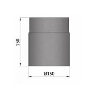 Rauchrohr, Ø130/150mm, Länge150mm