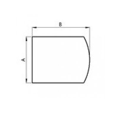 Stahlbodenplatte flacher Bogen