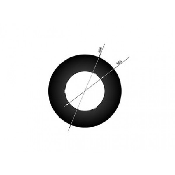 Rauchrohrrosette, für Ø150mm isoliert