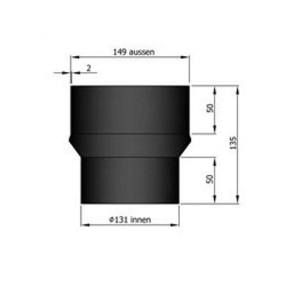 Rauchrohr Erweiterung Ø130-150mm