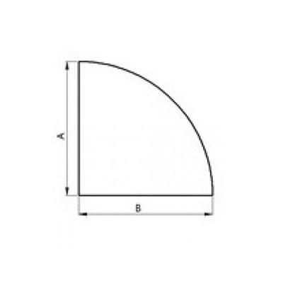 Stahlbodenplatte Viertelkreis