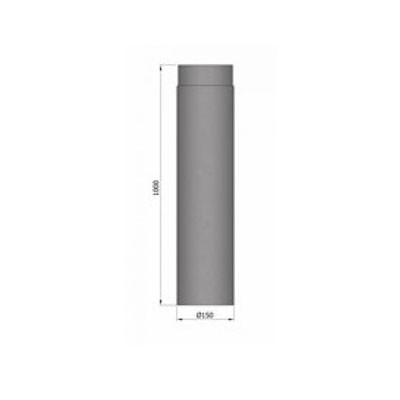 Rauchrohr, Ø120/130/150mm, Länge 1000mm_Maße1