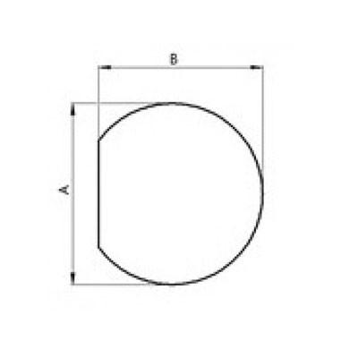 Glasbodenplatte Kreisabschnitt