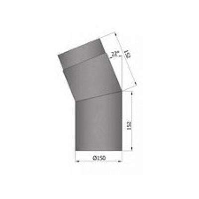 Rauchrohrbogen, Ø120/130/150mm, 22°_1