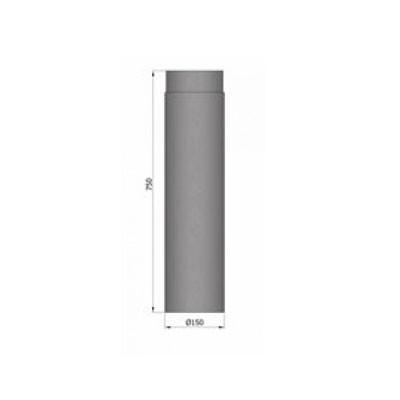 Rauchrohr, Ø130/150mm, Länge 750mm