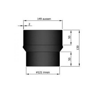 Rauchrohr Erweiterung Ø120-150mm