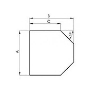 Stahlbodenplatte Sechseck
