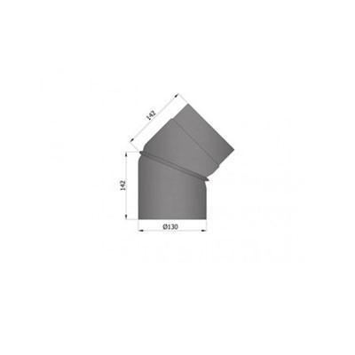 Rauchrohrbogen, verstellbar, 2-teilig, Ø130/150mm, 0-45°_1