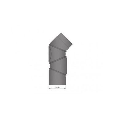 Rauchrohrbogen, verstellbar, 4-teilig, Ø150mm