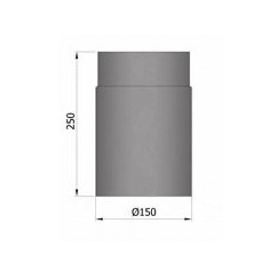 Rauchrohr, Ø120/130/150mm, Länge 250mm_Maße1